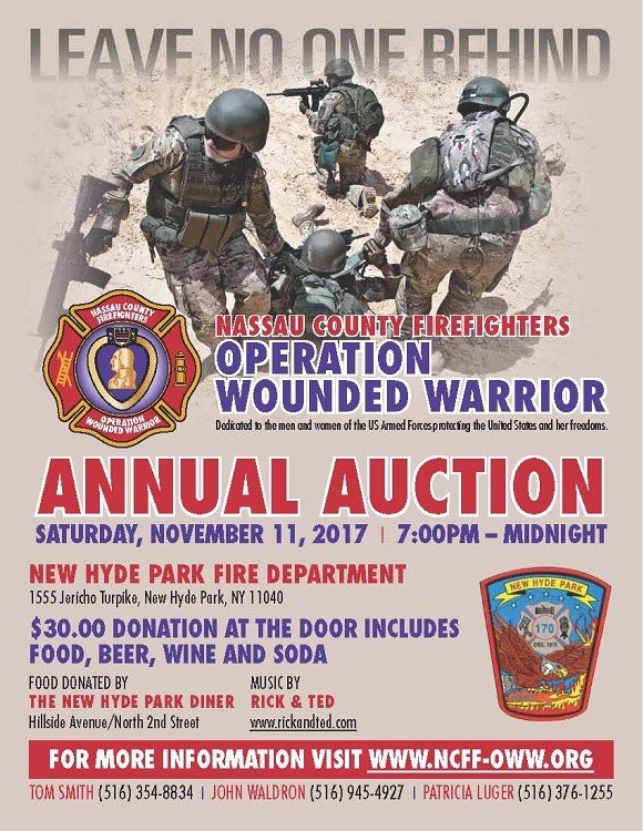New Hyde Park Fire Department Hosts Operation Wounded Warrior