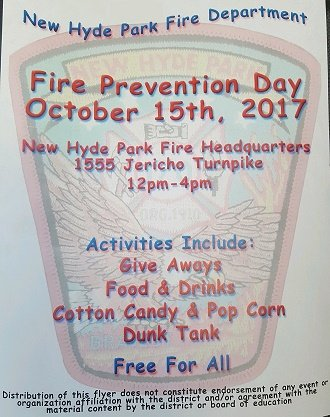 New Hyde Park Fire Department Hosts Fire Prevention!