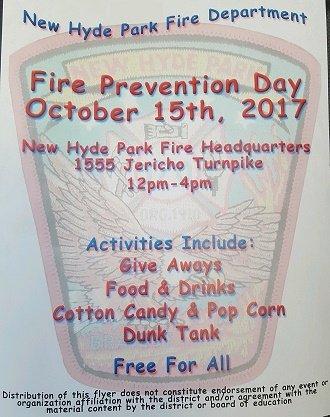 New Hyde Park Fire Department Hosts Fire Prevention!